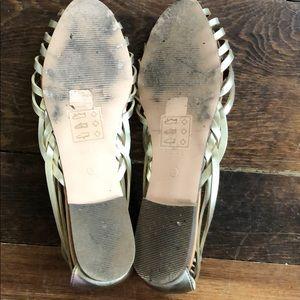 5caf90e1d J. Crew Factory Shoes | J Crew Basket Weave Dorsay Flat | Poshmark